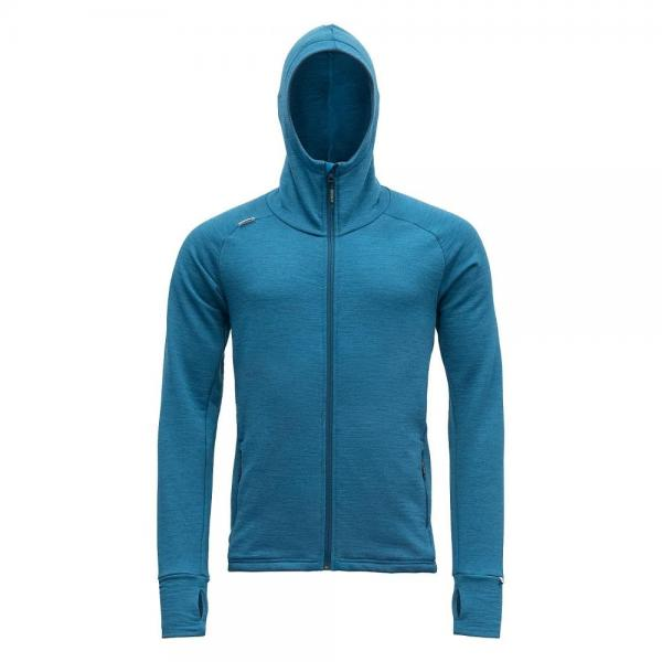 Nibba Man Jacket w/Hood blue melange