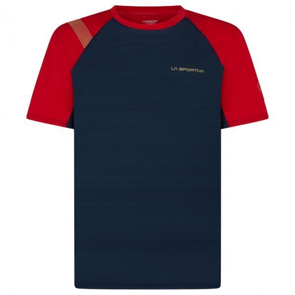 Sunfire T-Shirt Man Night Blue/Tango Red