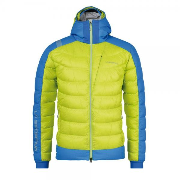 Dolent Down Jacket Man Apple Green/Sky Blue
