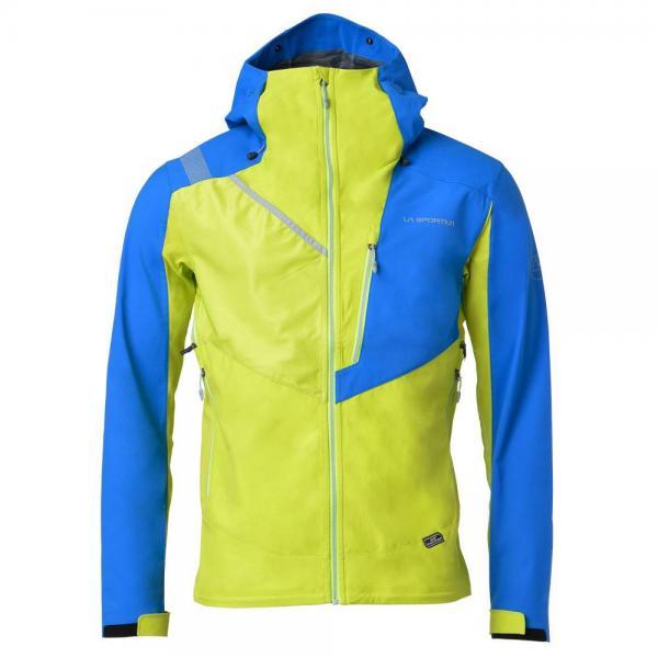 Alpine Guide Softshell Jacket Man Apple Green/Sky Blue