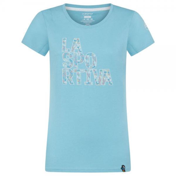 Pattern T-Shirt Woman Pacific Blue