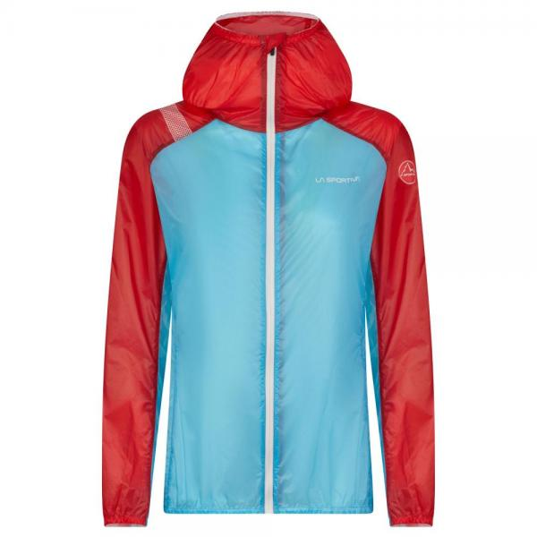 Briza Windbreaker Jacket Woman Malibu Blue/Hibiscus