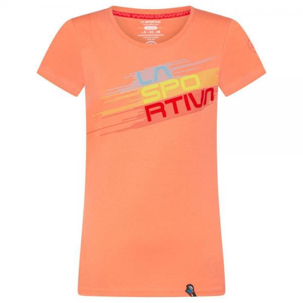 Stripe Evo T-Shirt Woman Flamingo
